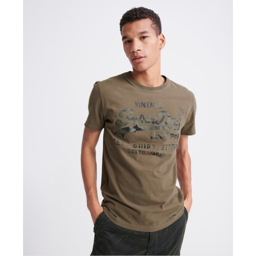 SUPERDRY VL SHIRT SHOP BONDED TEE CHIVE M1010100A-BC3